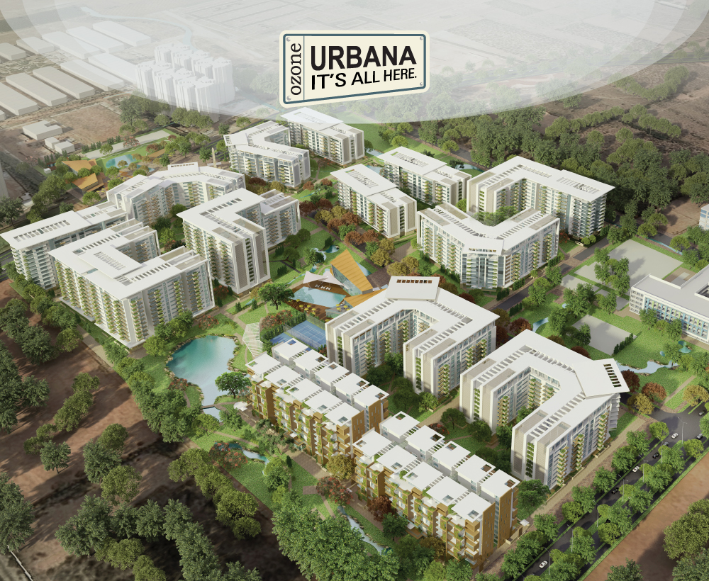 Image Of Ozone Urbana Residential And Commercial Project near Devanahalli Bangalore