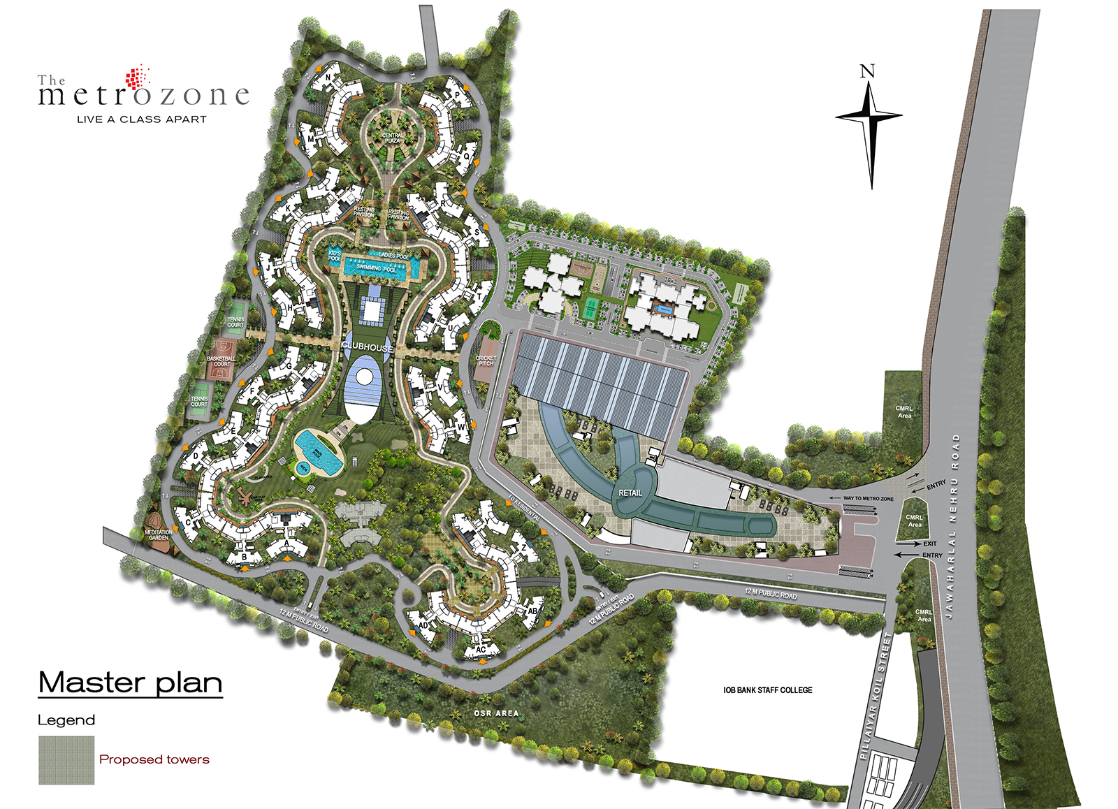 Master Plan Of The Metrozone Project
