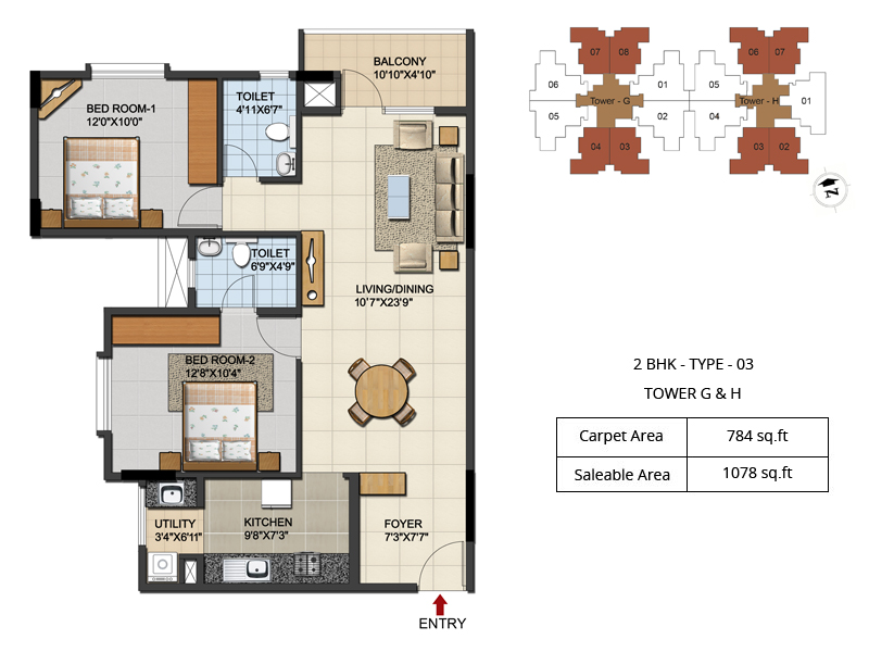 Urbana Aqua Floor Plans 2 Amp 3 Bhk Apartments In Hebbal