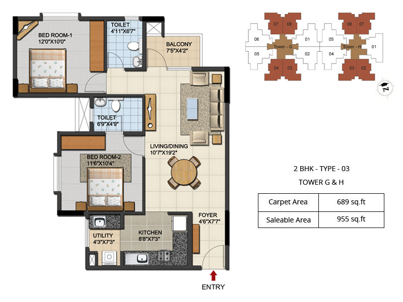 2 Bhk Apartment Plan Best Home Design 2018
