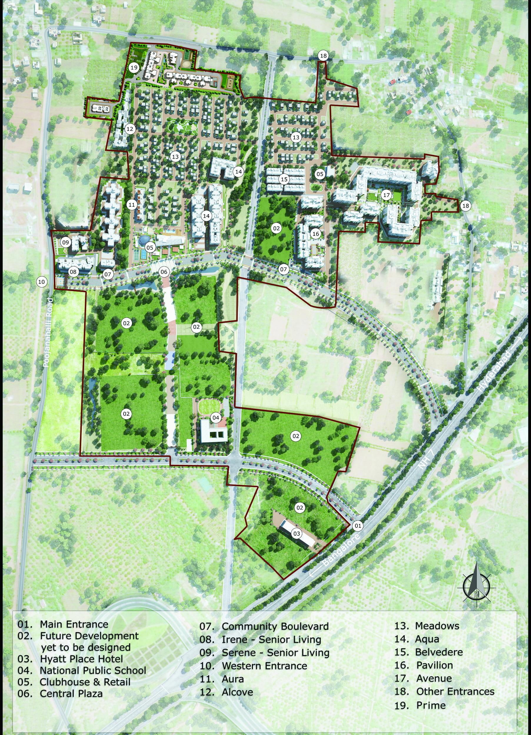 Urbana prime Mater plan